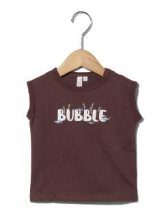 サメ刺繍フレンチスリーブTシャツ