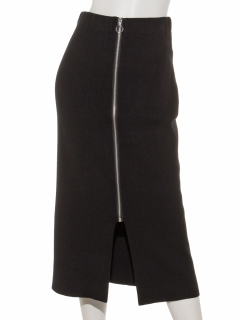 サークルジップ ニットタイトスカート