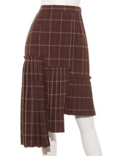 パネルプリーツスカート