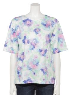 水彩柄ティーシャツ