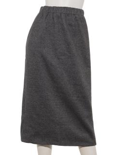 バックスリット起毛スカート