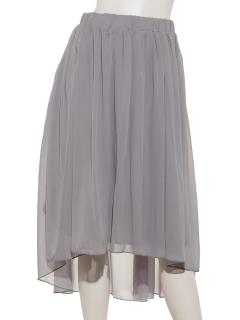 シフォンフレアアンバランススカート