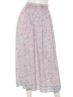パネル花柄スカート