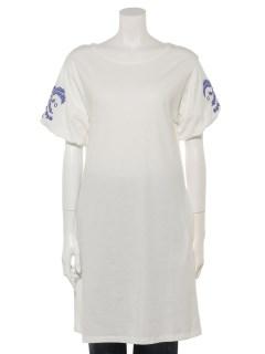 バルーン袖刺繍チュニック