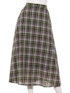 ・マドラスチェックロングスカート