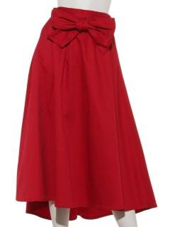 リボンフレアカラースカート