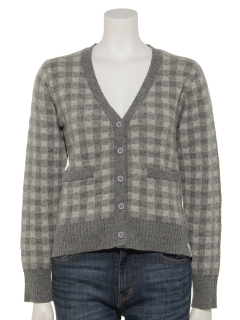 WOMENS CHECK CARDIGAN