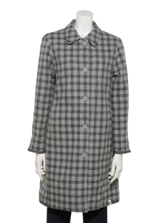 WOMENS CHECKED OVERCOAT