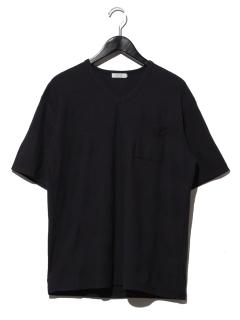 1ヘリンボンVネックTシャツ