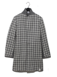 MENS CHECK OVERCOAT