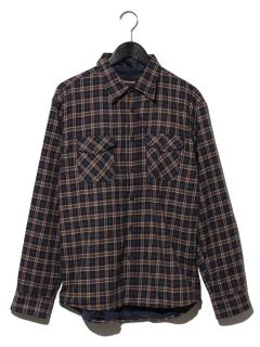T/Cネル裏シャギーチェックシャツ