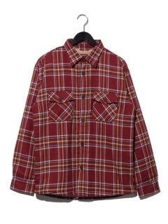 T/Cネル裏ボアチェックシャツ
