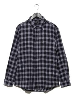 T/Cネル ドビーチェックシャツ