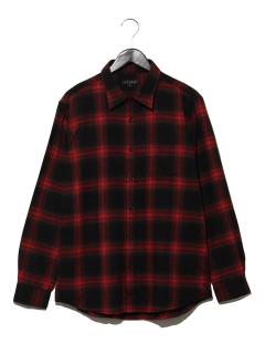 T/Cネル オンブレーチェックシャツ