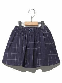 ワッフルチェックインナーパンツ付きスカート