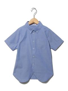 シャンブレーボタンダウン半袖シャツ