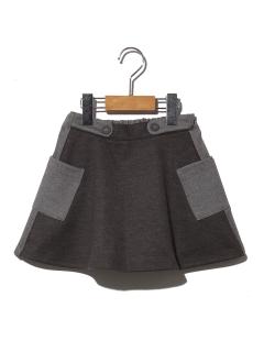 バイカラーポケットスカート