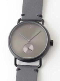 【ユニセックス】腕時計 Luna Matte Black ルナマットブラック レザーベルト