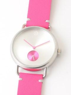 【ユニセックス】腕時計 Luna Matte Silver ルナマットシルバー レザーベルト