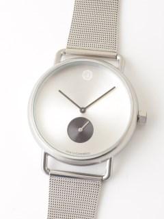 【ユニセックス】腕時計 Luna Matte Silver ルナマットシルバー メッシュベルト