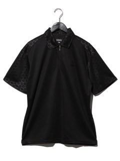 半袖ZIP共生地ポロシャツ