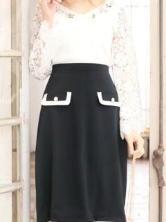バイカラーフラップタイトスカート