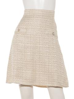 ツイード台形スカート
