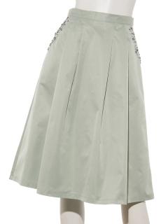 ポケットビジューカラースカート