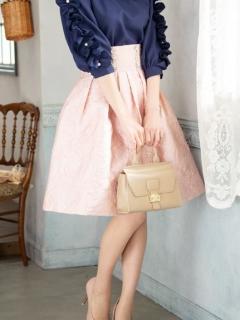 コルセット風ジャガードスカート