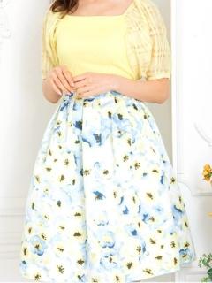 ぼかしフラワースカート