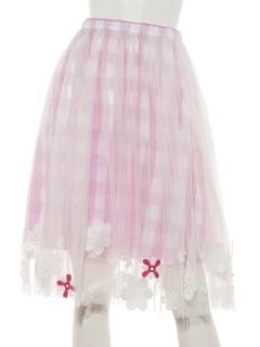 フラワーチュールスカート