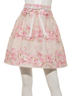お花柄ふんわりスカート