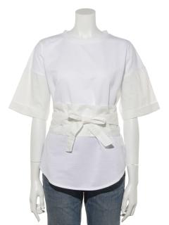 【SIMPLICITE】サッシュベルトツキTシャツ