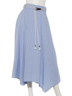 【SIMPLICITE】ベルトツキイレヘムスカート