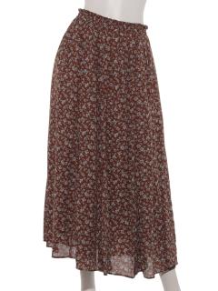 【SIMPLICITE】マーメイドラインプリントスカート