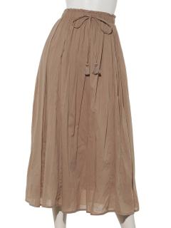 【SIMPLICITE】マチイリボイルロングスカート