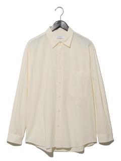 B-コットン入りレーヨンワイドシャツ