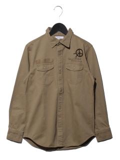シシュウ+プリントシャツ