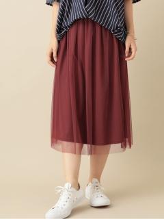 【chocol raffine robe】ウエストフリルチュールスカート