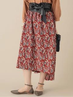 【chocol raffine robe】SET2点ベルト+楊柳花柄スカート