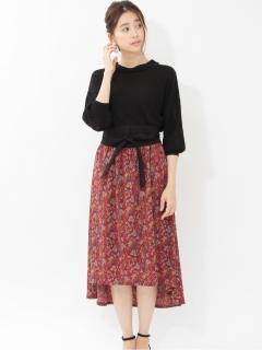 【chocol raffine robe】SET2点ベルト+ペイズリー柄スカート