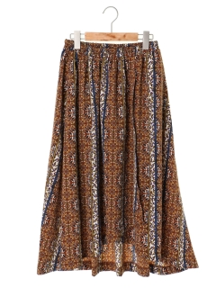 【chocol raffine robe】巻き風柄ギャザースカート