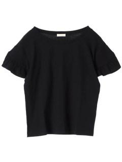【earthmusic&ecology】フリルスリーブTシャツ