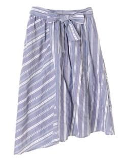 【chocolraffinerobe】マルチストライプアシメスカート