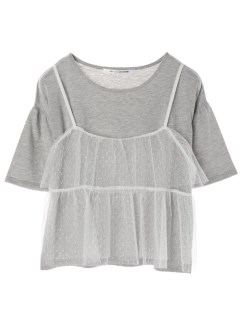 【RAYCASSIN】SET2点Tシャツ×チュールキャミ