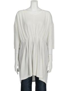【chocol raffine robe】フロントギャザー7分袖チュニック