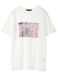 【ELENCARE DUE】フラワーフォトptTシャツ