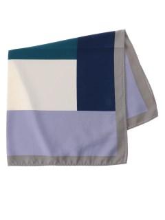 ブロッキング柄スカーフ