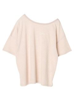 【Ehyphenworldgallery】ボーダー刺繍入りTシャツ