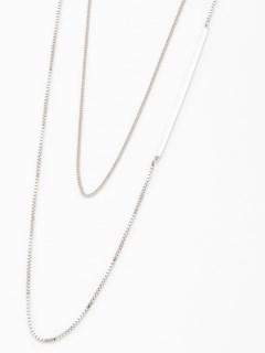 【chocolraffinerobe】メタルバー2連ネックレス